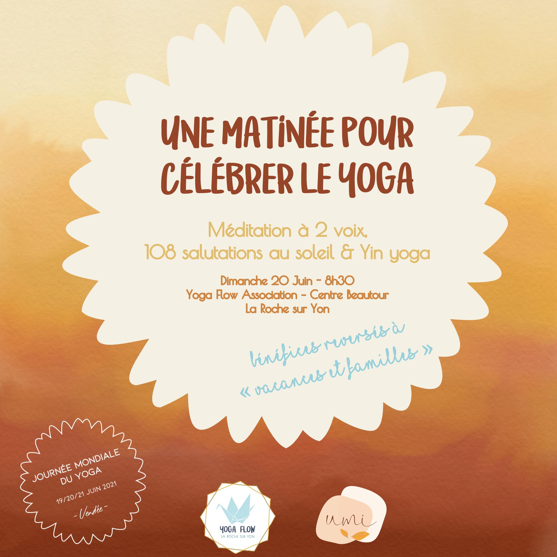 Atelier Journée mondiale du yoga 2021 - une matinée pour célébrer le yoga